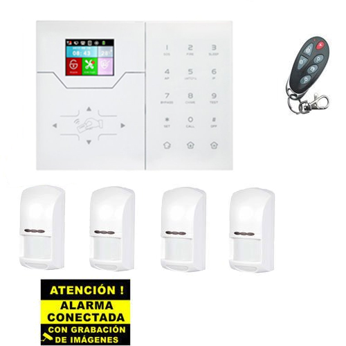 Kit de Alarma Bysecur IP / GSM. Central + 4 PIR + Mando