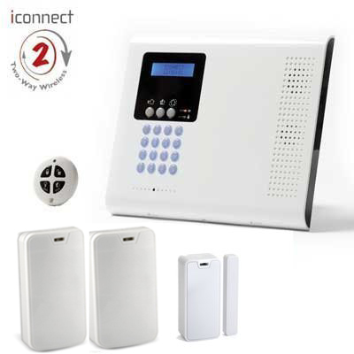 Kit Alarma Iconnect / Secusafe. Central + 2 PIR + 1 Contacto + 1 Mando