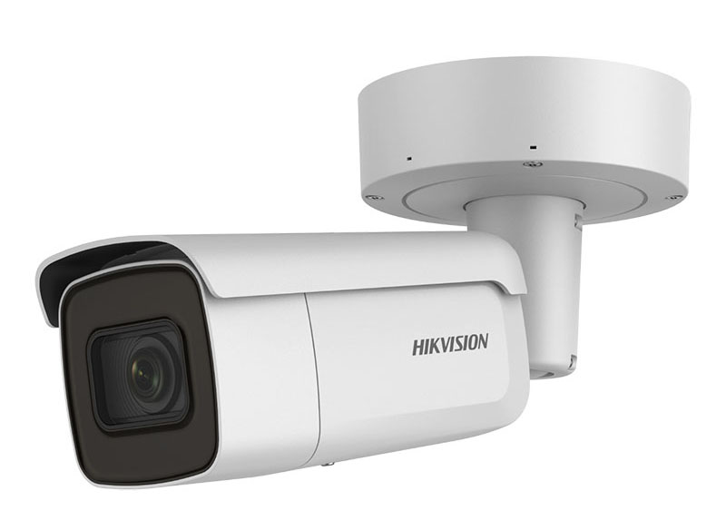 Cámara IP Bullet 2MP varifocal 2.8 a 12mm. IR60m AcuSense DarkFighter Hikvision