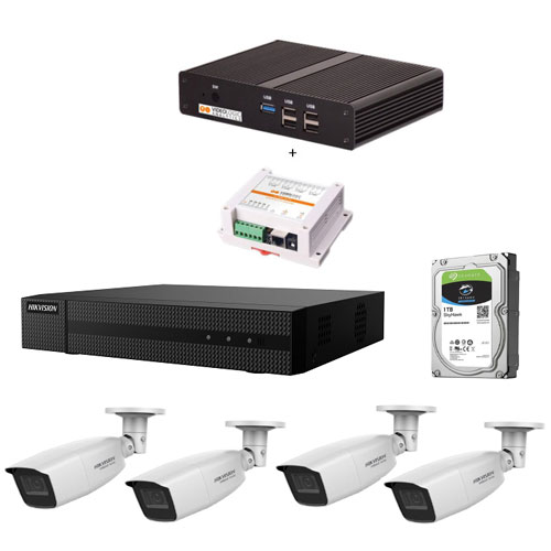 Pack PROMO de Analítica de Video con Cámaras visibles y Dvr